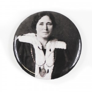 Mary Barbour Pin Badge (Black + White)