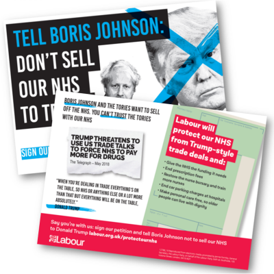 Don't sell our NHS to Trump