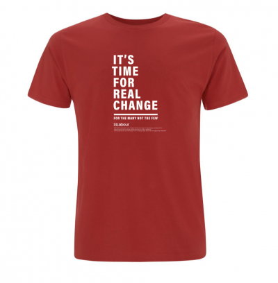 Image of real change t-shirt