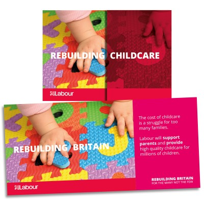 Image of Labour's childcare leaflet