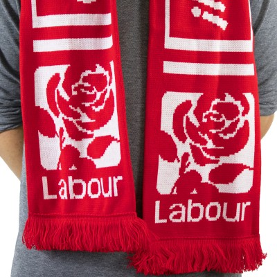 Image of person wearing Jeremy Corbyn scarf