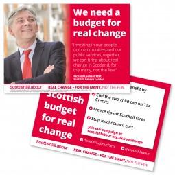 Image of sottish labour budget leaflet