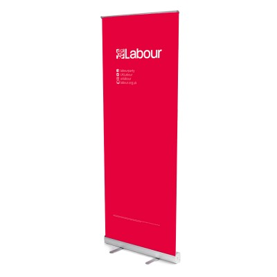 Labour/For the many, not the few banner stands (single)
