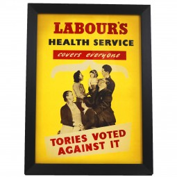 Image of labour's vintage health service black frame