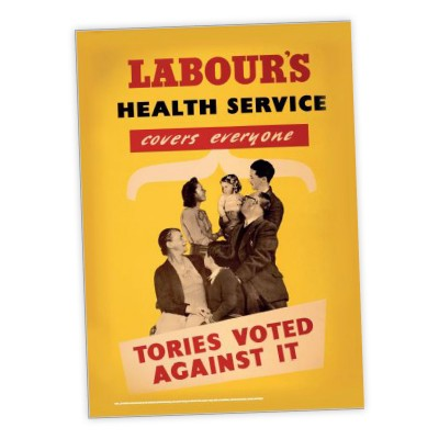 Image of Labour vintage health service poster