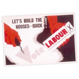 Let's Build The Houses Quick A3 Poster