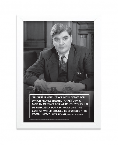 Image of Nye Bevan print with white frame