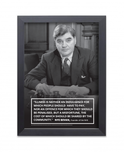 Image of Nye Bevan print with black frame