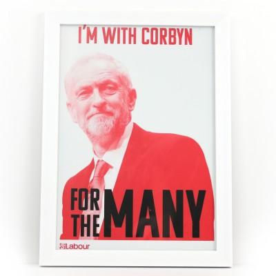 I'm with Corbyn Framed Print