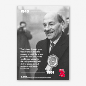 Attlee 75 Years Posters