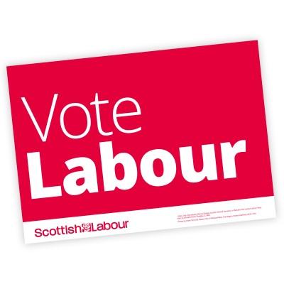 Scottish Labour Vote Labour Poster A4 or A3