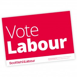 Scottish Labour Vote Labour Poster A4 or A3