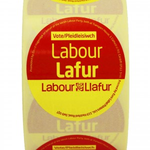 Vote Welsh Labour stickers