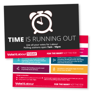 Vote Labour Today: Time is Running out Leaflet
