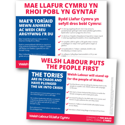 Image of Welsh Labour puts the people first leaflet (Wales version)